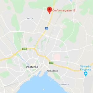 Karta Västerås